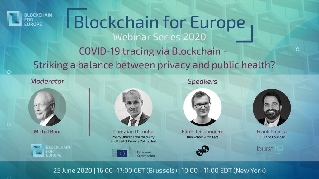 Webinar Series 2020 – COVID-19 tracing via Blockchain