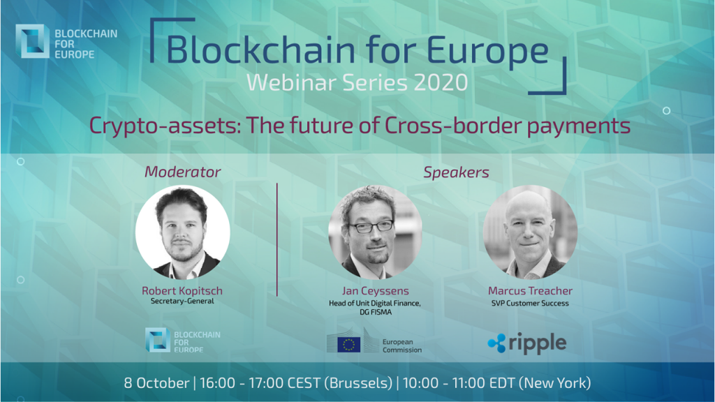 Webinar Series 2020 – Crypto-assets: The future of cross-border payments