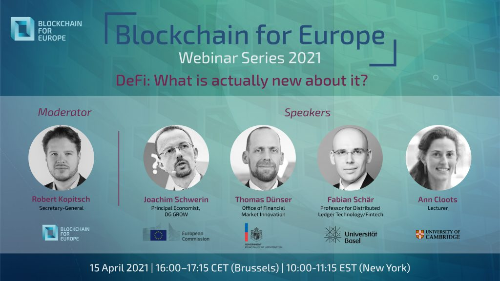 Webinar Series 2021 – DeFi: What is actually new about it?