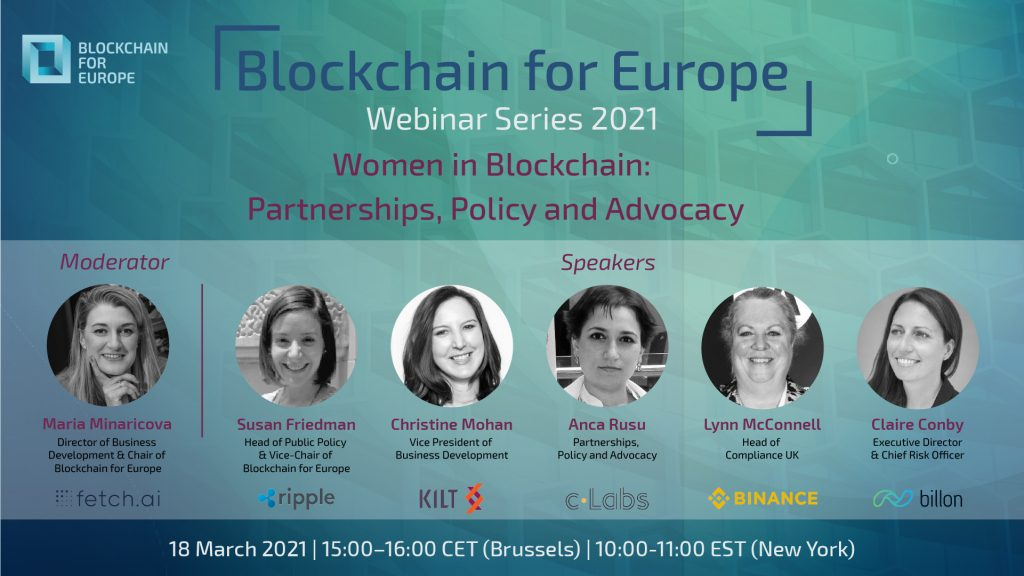 Webinar Series 2021 – Women in Blockchain: Partnerships, Policy and Advocacy